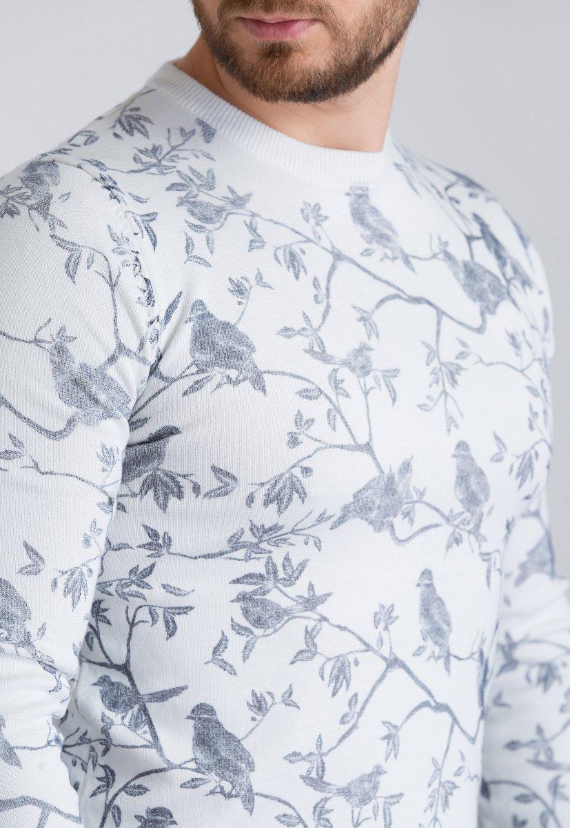 Свитер Trend Collection 410 Белый+птицы - Фото