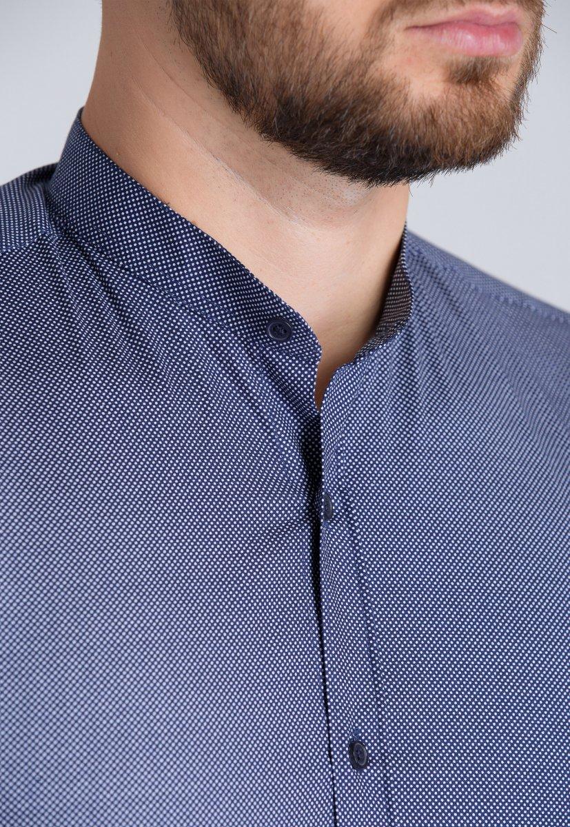 Рубашка Trend Collection U02-1047-20 Синий+точка - Фото 1