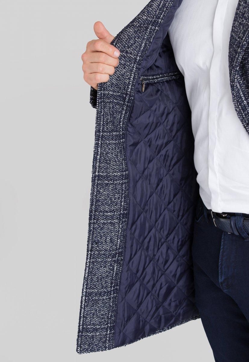 Пальто Trend Collection 553 Синий + белый - Фото 1