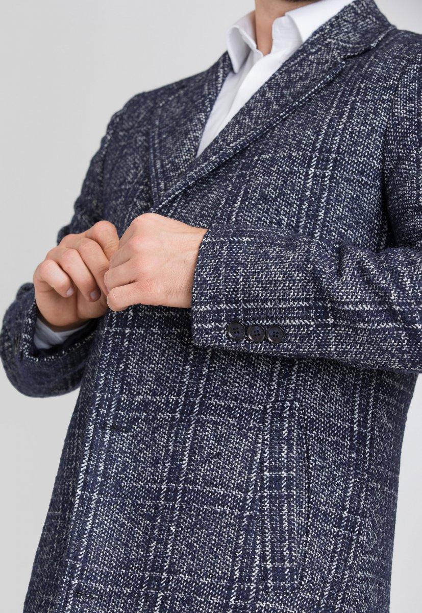 Пальто Trend Collection 553 Синий + белый - Фото 3