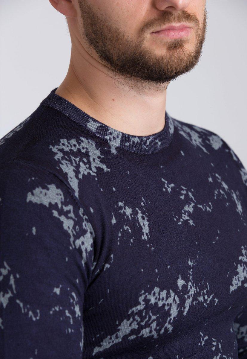 Свитер Trend Collection 98132 Синий+серый - Фото 1