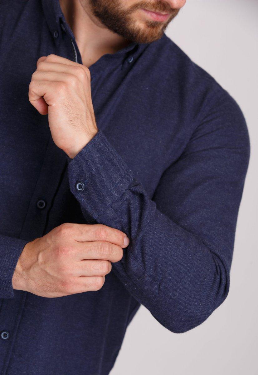 Рубашка Trend Collection U02-1001-20 Темно-синий - Фото