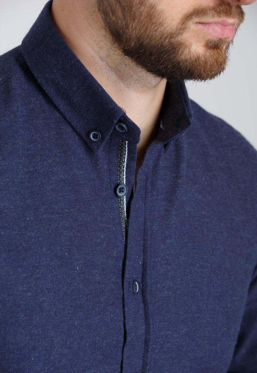 Рубашка Trend Collection U02-1001-20 Темно-синий - Фото 1