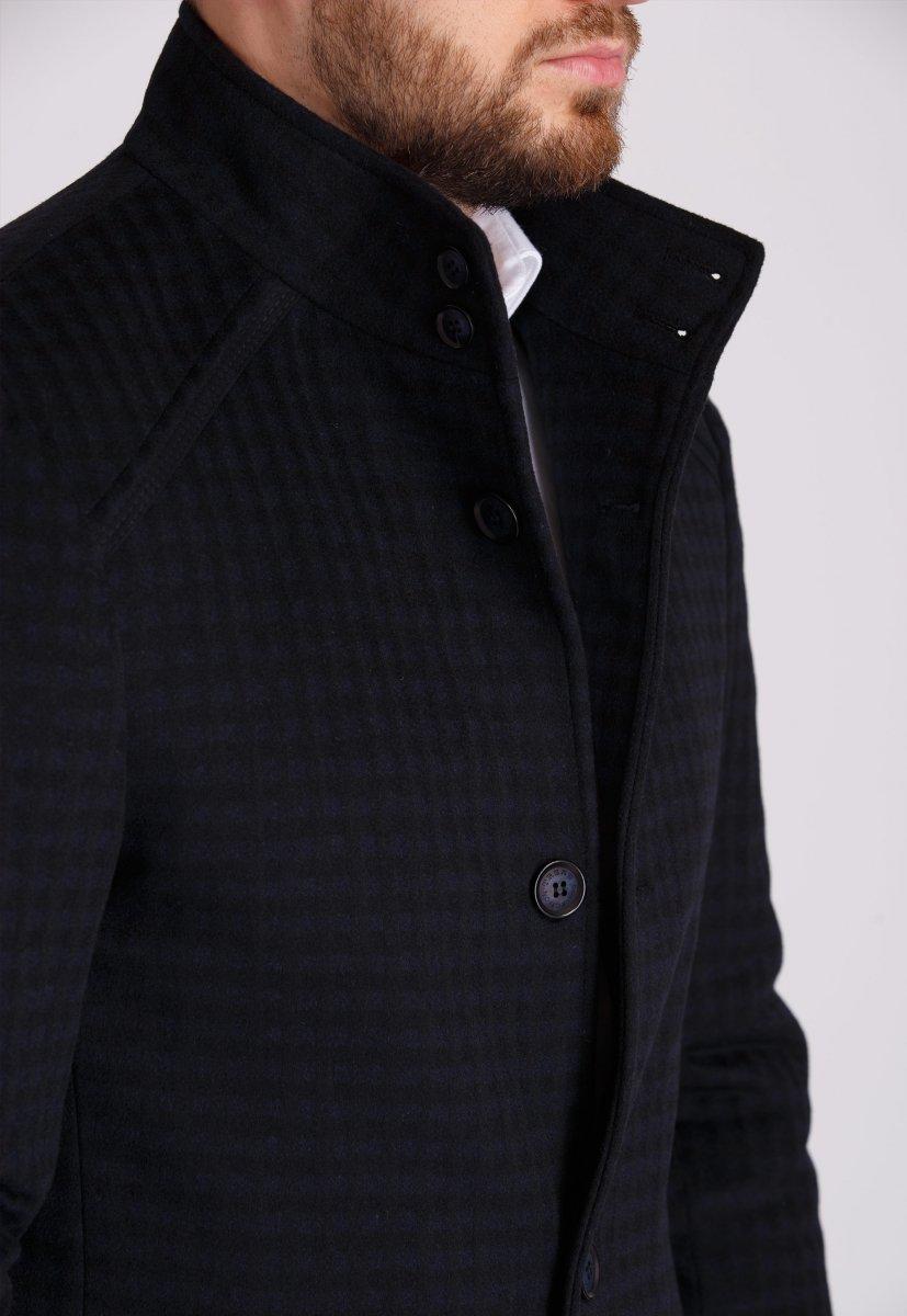 Пальто Trend Collection 515 Черный+синяя клетка - Фото 2