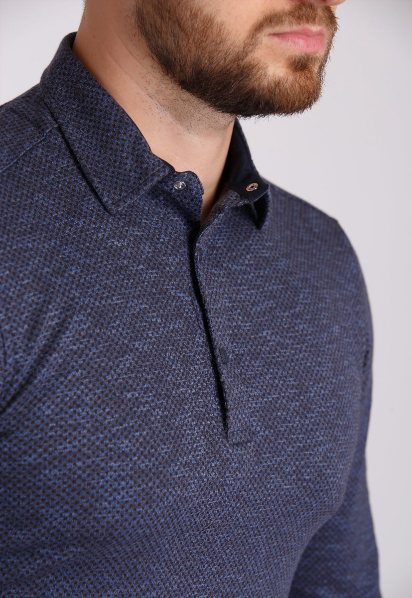 Джемпер Trend Collection 0001 Синий+коричневая точка - Фото 1