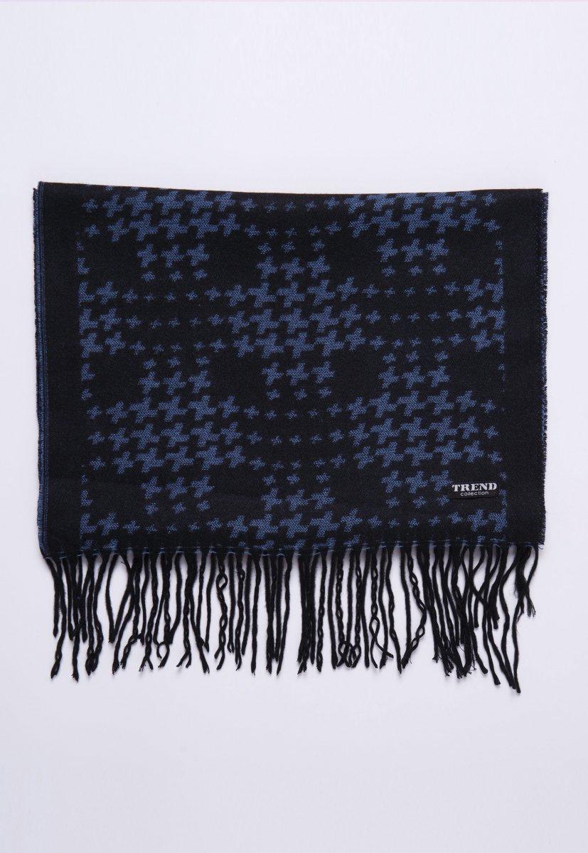 Шарф Trend Collection STK-02 Черный+голубой - Фото