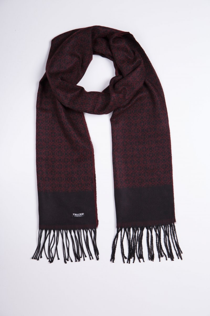 Шарф Trend Collection STK-11 Бордовый+серый - Фото