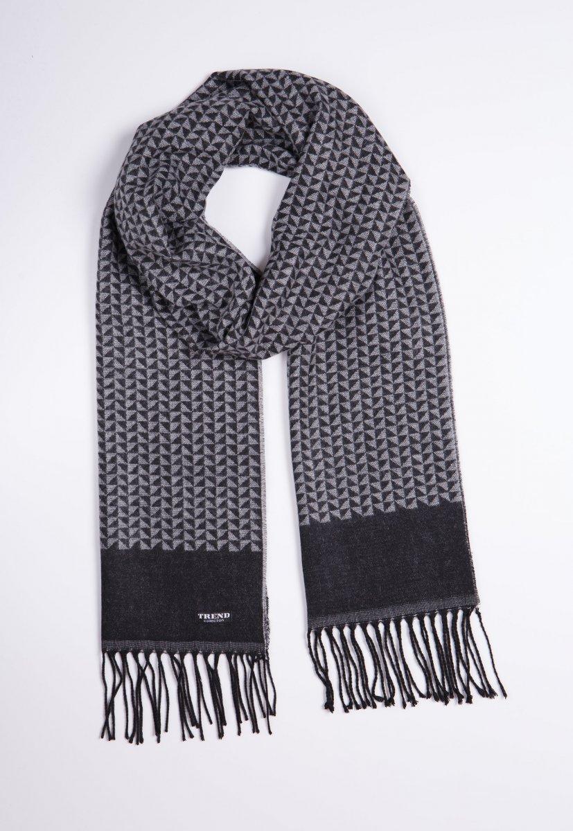 Шарф Trend Collection STK-14 Серый+белый - Фото
