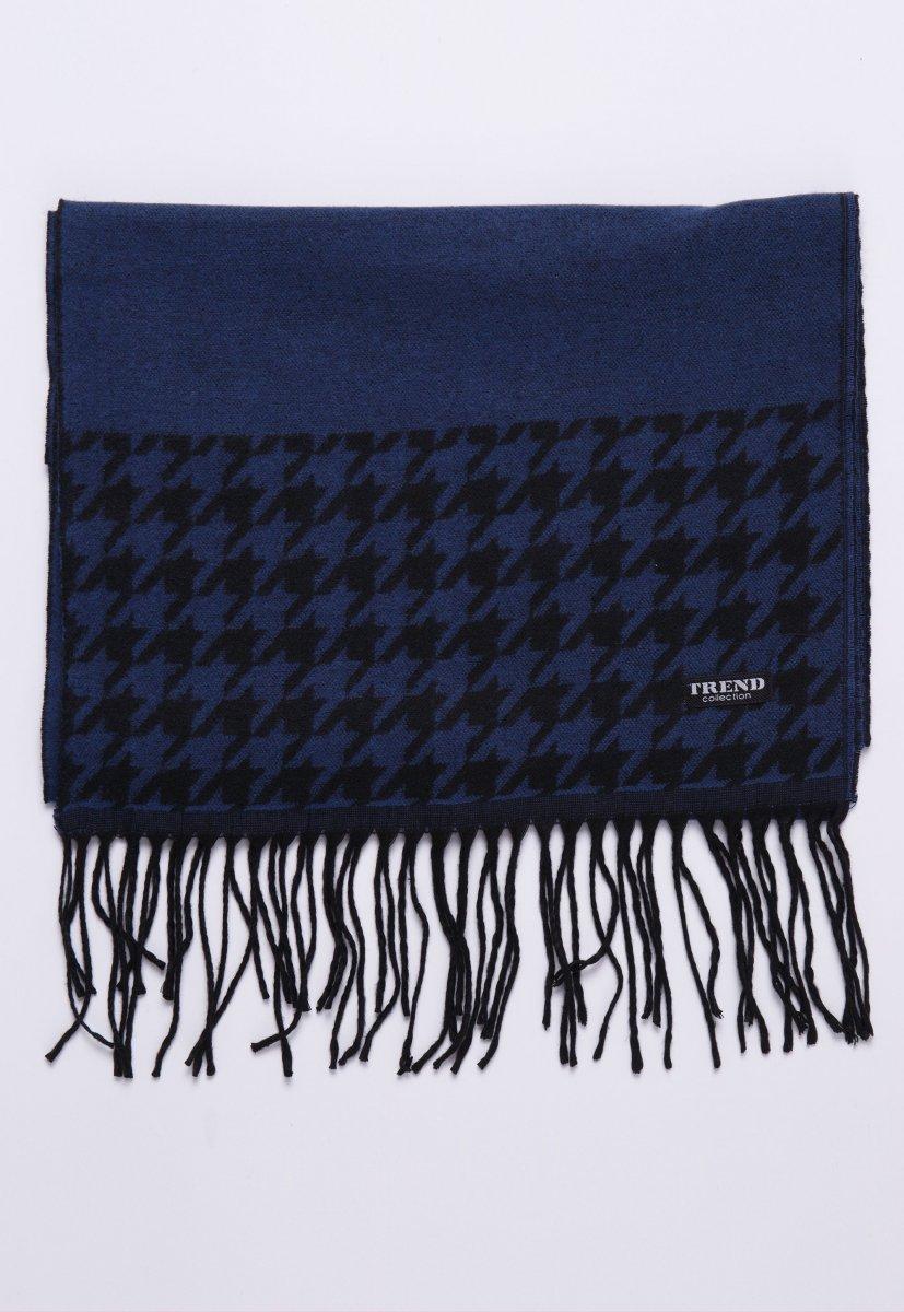 Шарф Trend Collection STK-13 Синий+черный - Фото 1