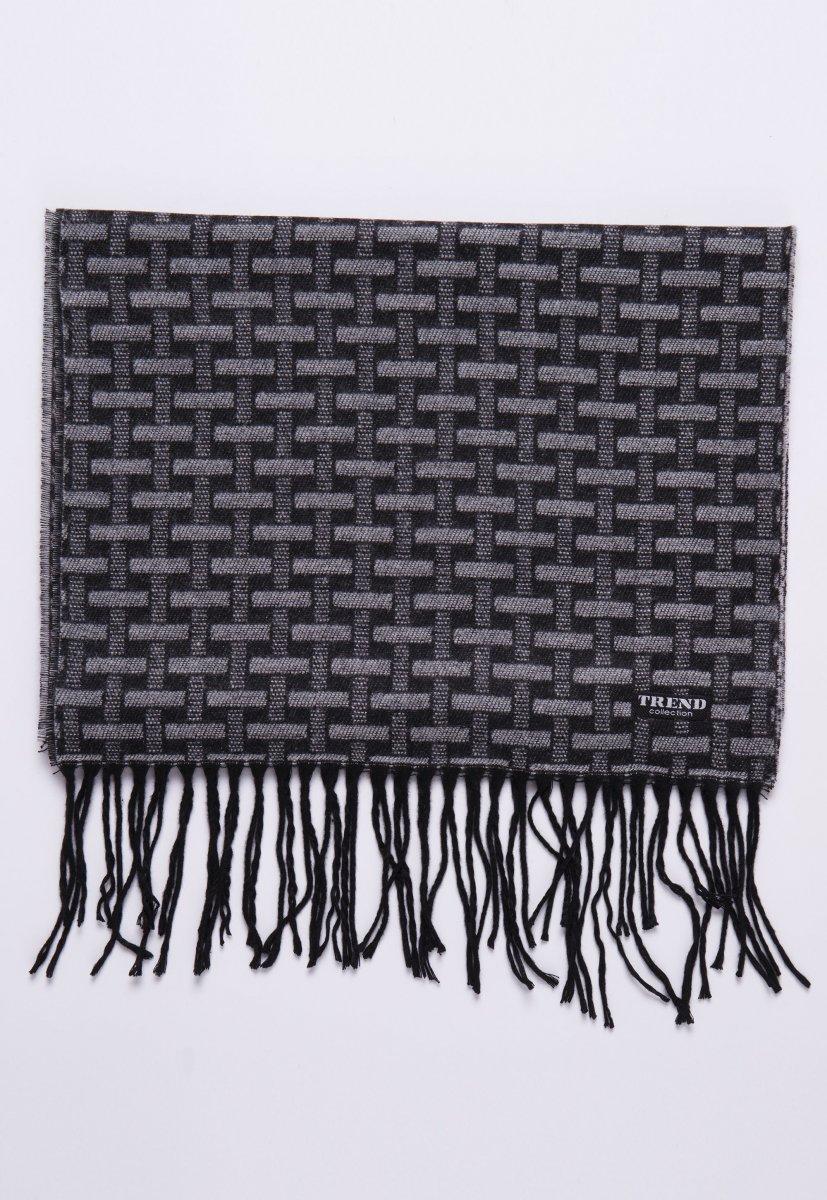 Шарф Trend Collection STK-06 Черный+серый - Фото