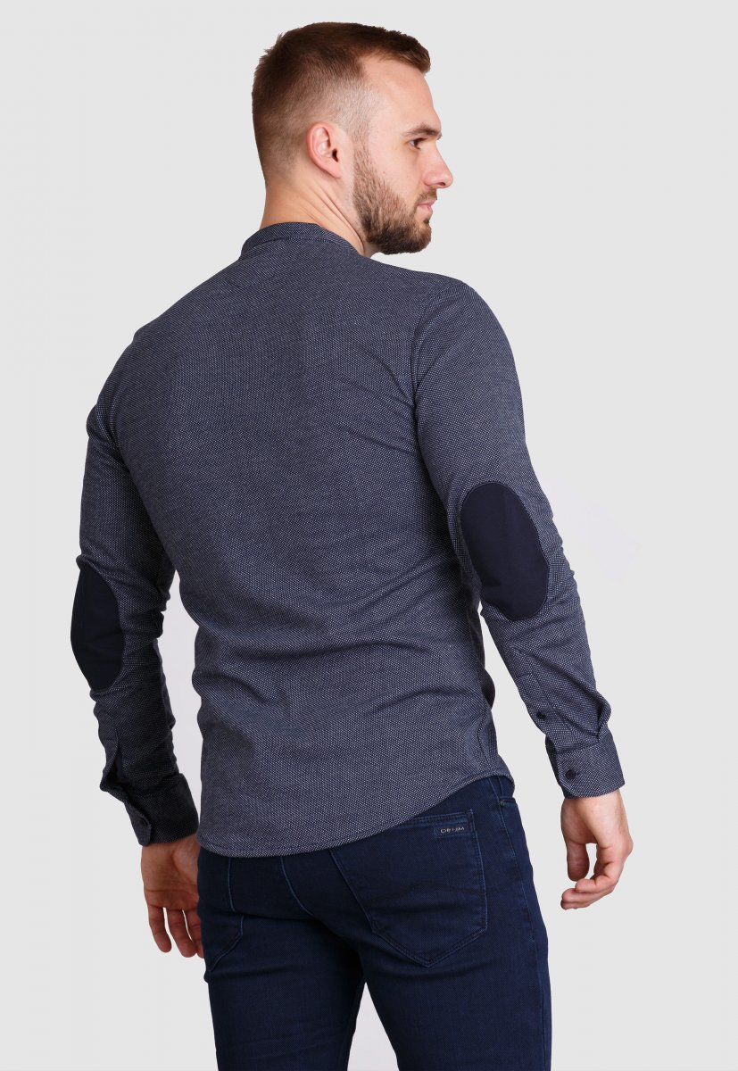 Рубашка Trend Collection 19049 Темно-синий+белая точка - Фото