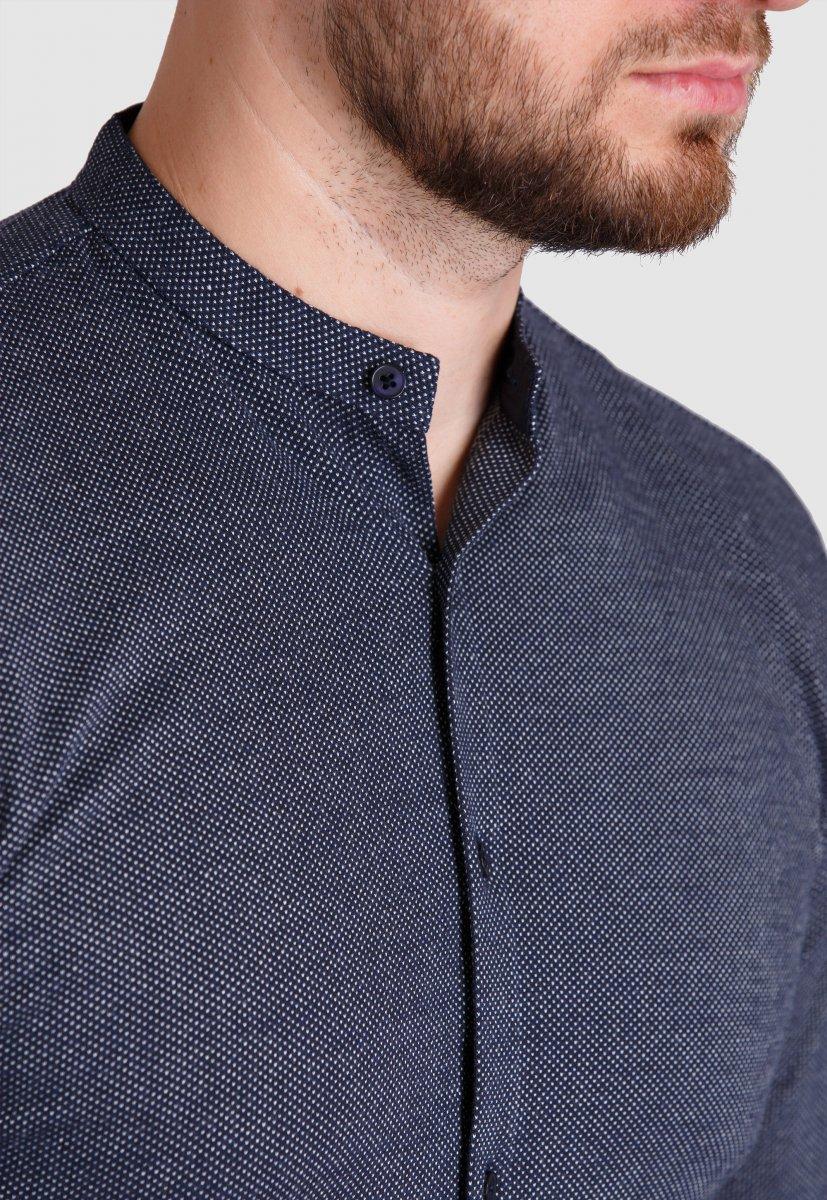 Рубашка Trend Collection 19049 Темно-синий+белая точка - Фото 1