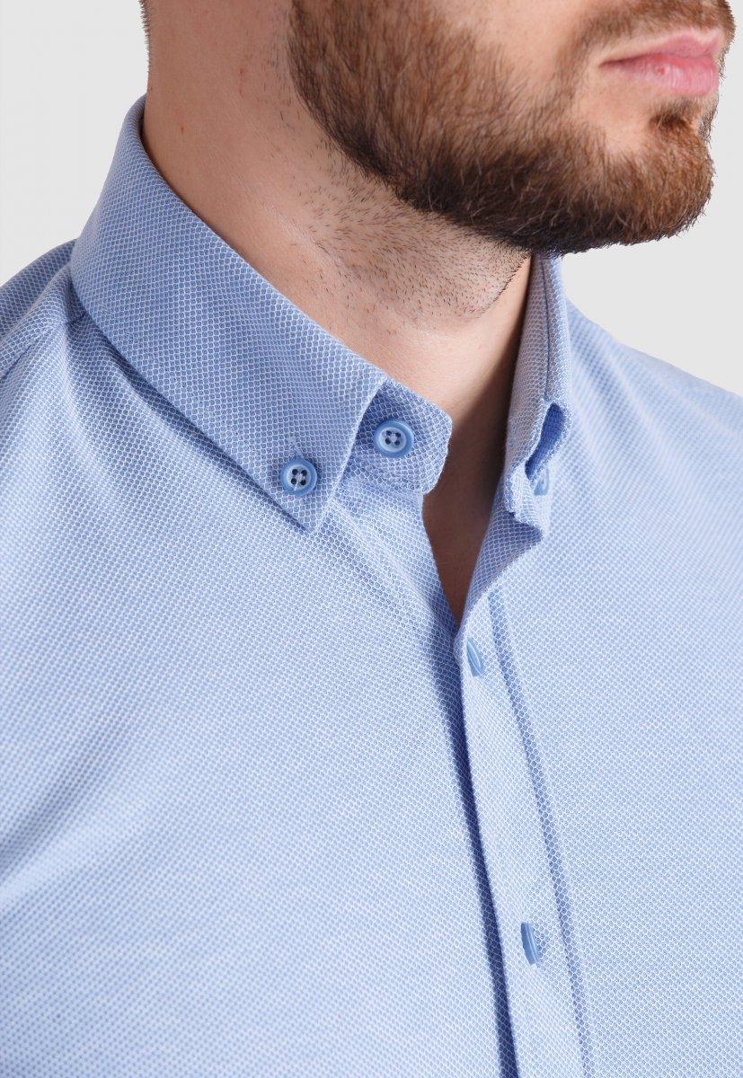 Рубашка Trend Collection 2020 Небесный+ячейка - Фото 1