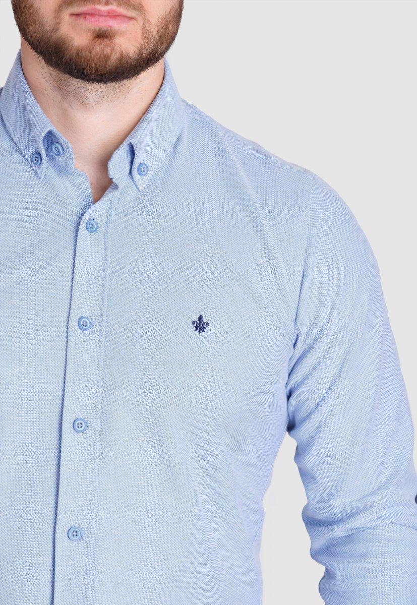 Рубашка Trend Collection 2020 Небесный+ячейка - Фото 2