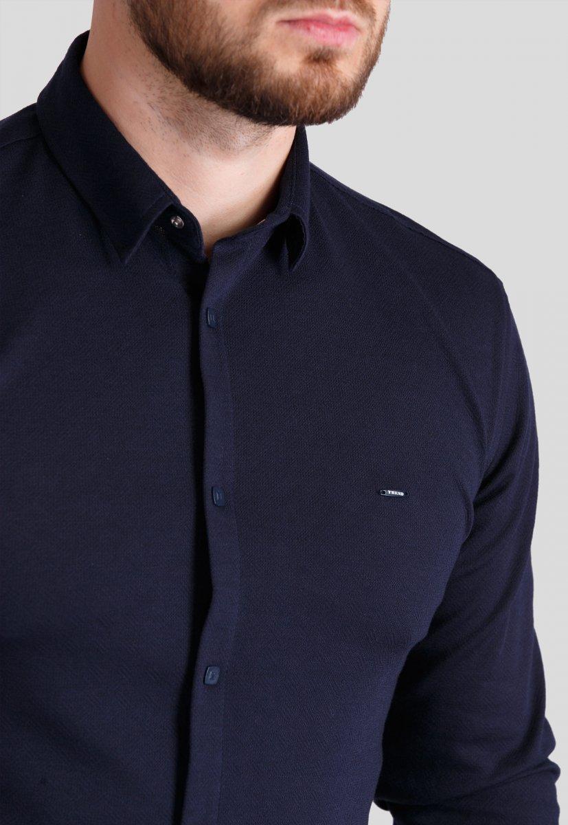 Рубашка Trend Collection 0003 Темно-синий - Фото