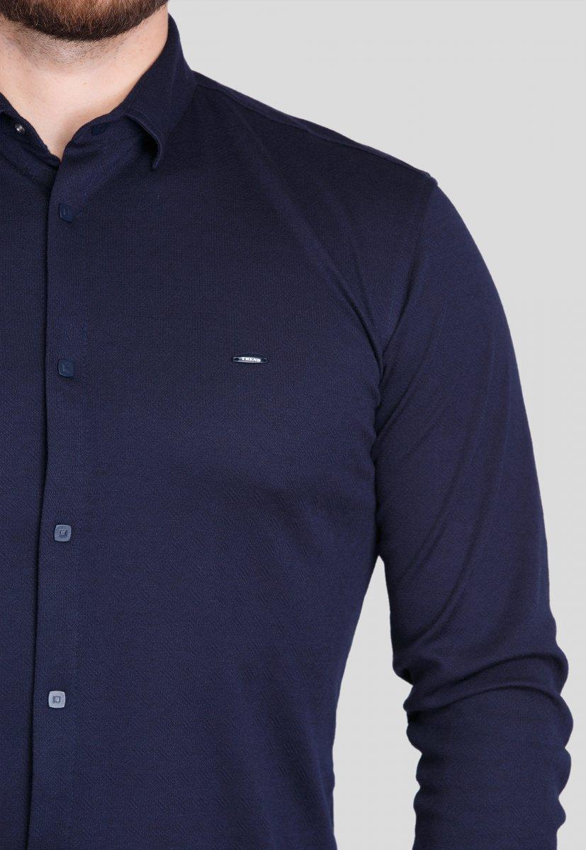 Рубашка Trend Collection 0003 Темно-синий - Фото 1