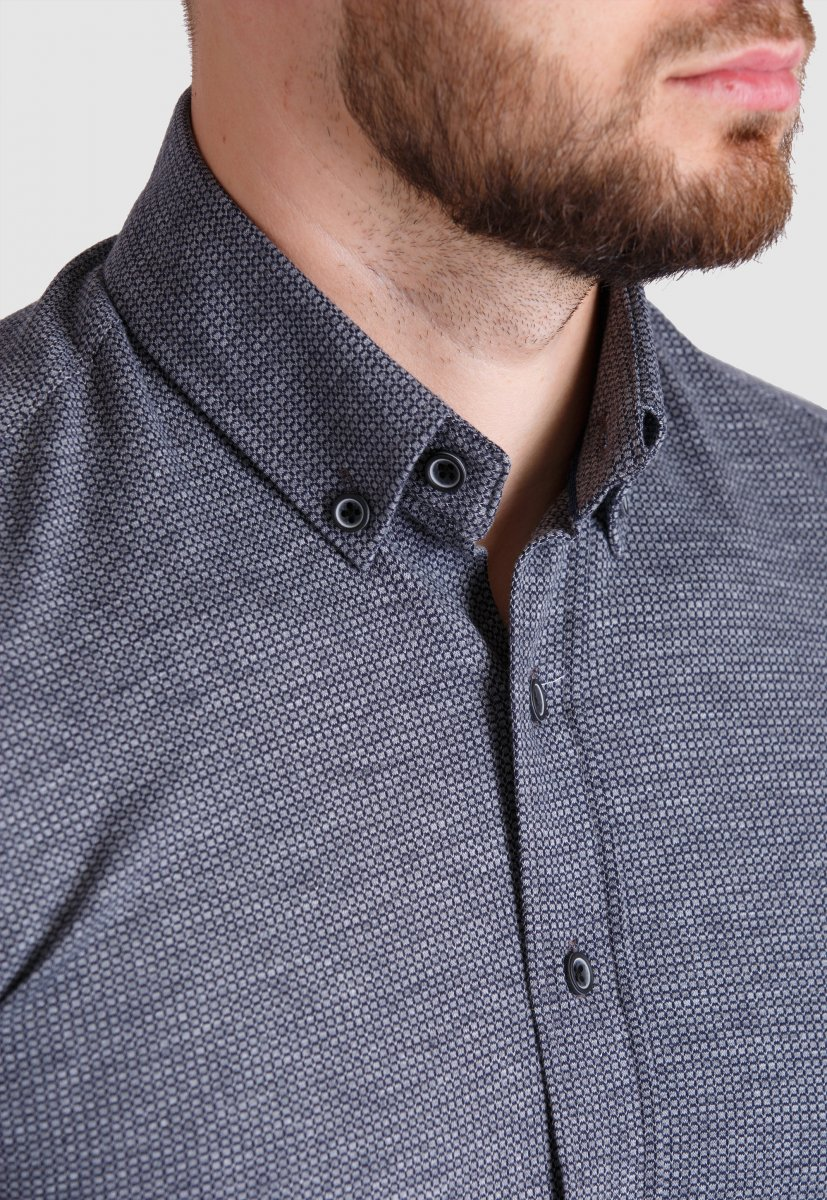 Рубашка Trend Collection 2020 Серый - Фото 1