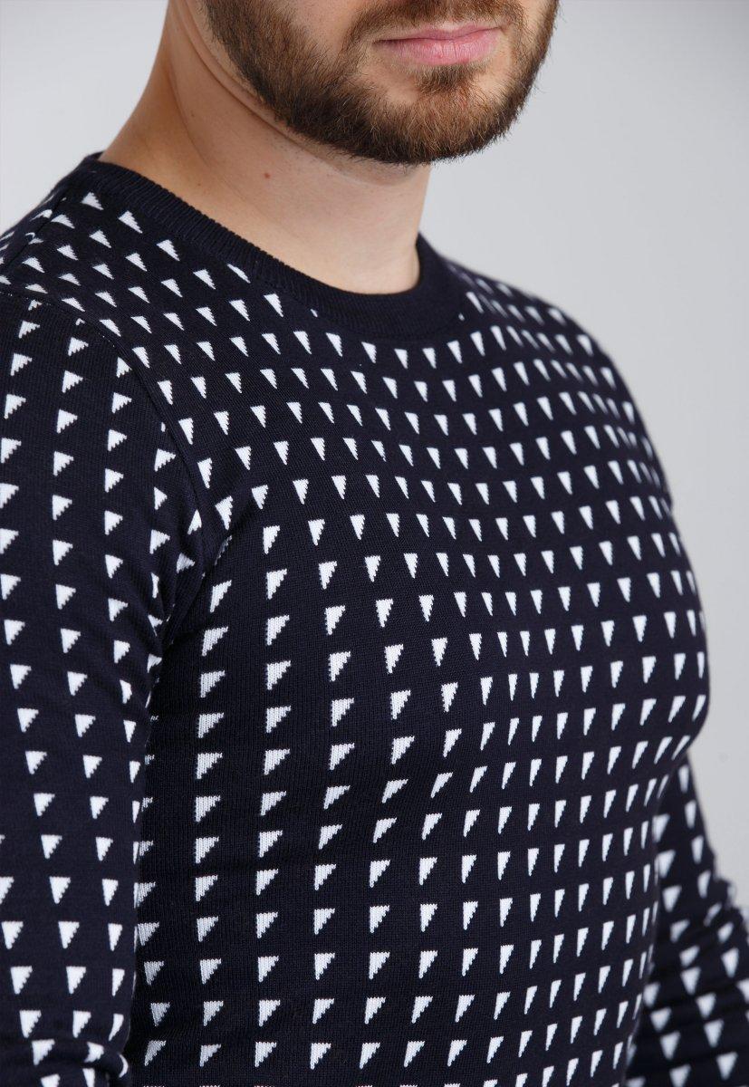 Свитер Trend Collection 9517 Синий + белый треугольник - Фото 1