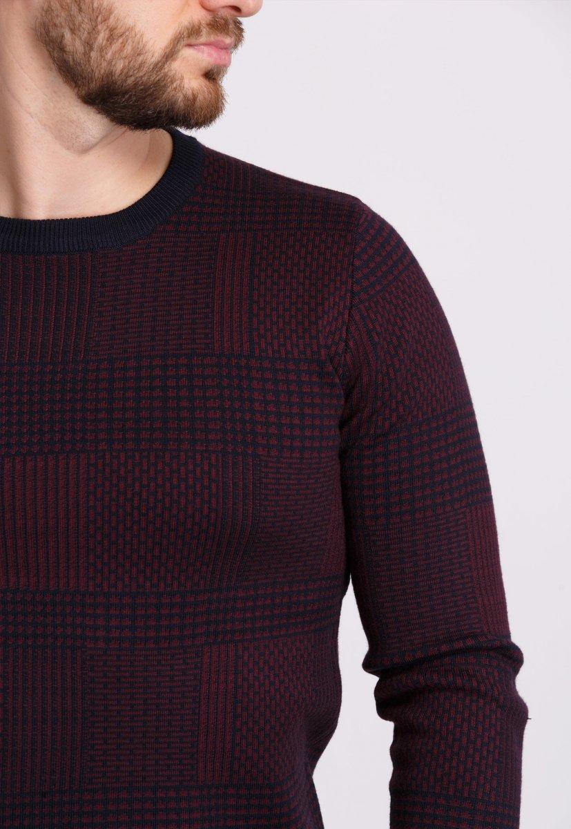 Свитер Trend Collection 1606 Темно-синий+бордовый - Фото 1