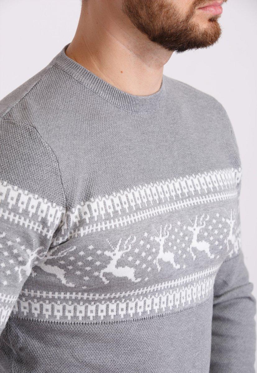 Свитер Trend Collection 9533 Серый+белые олени - Фото 1