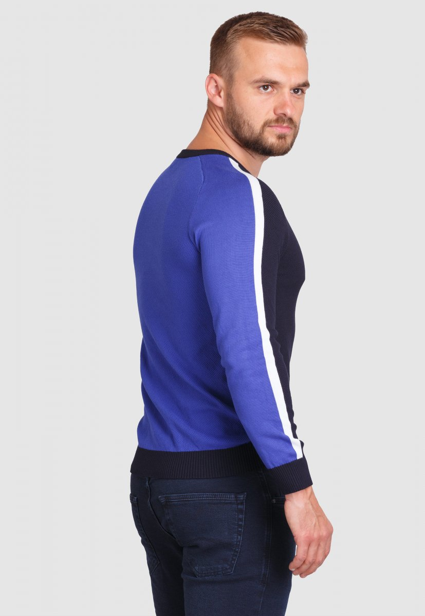 Свитер Trend Collection 99121 Синий+белый - Фото