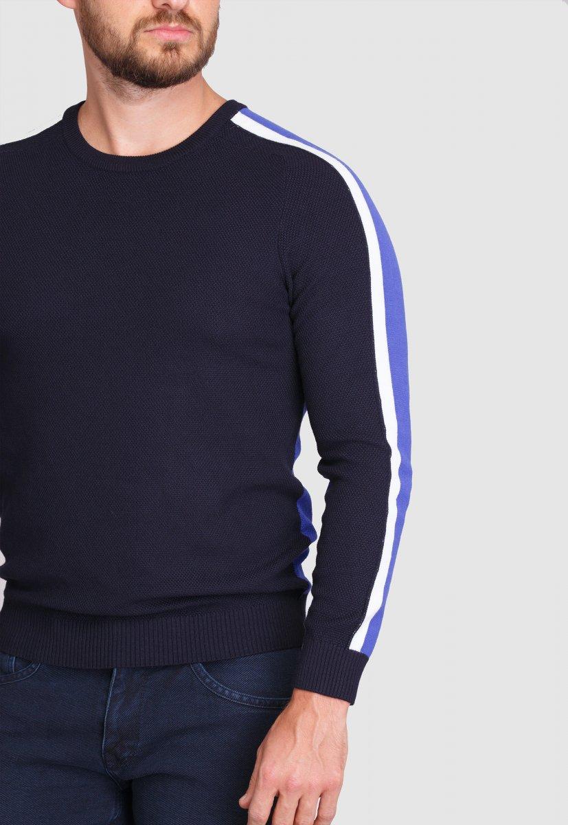 Свитер Trend Collection 99121 Синий+белый - Фото 1