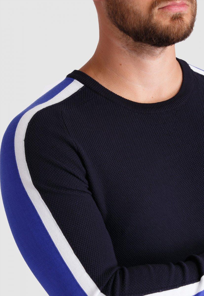 Свитер Trend Collection 99121 Синий+белый - Фото 2