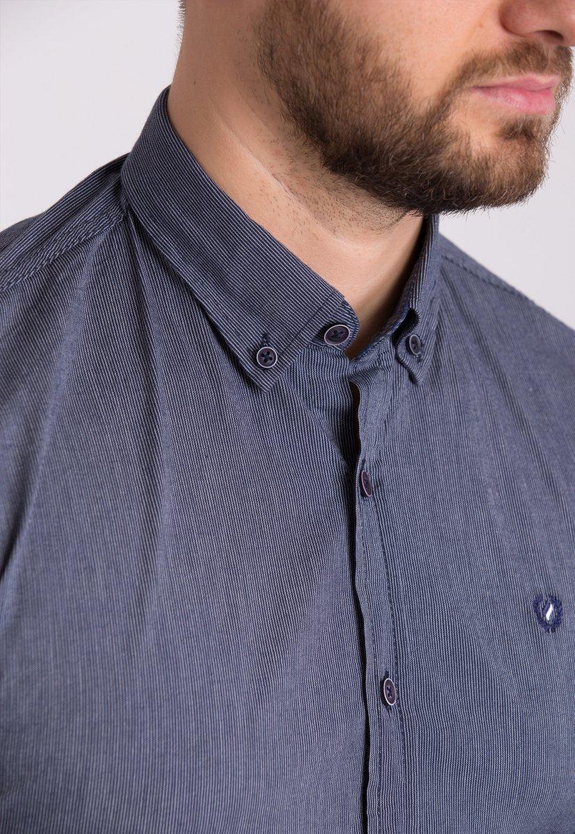 Рубашка Trend Collection 32299 Синий+серая полоска - Фото