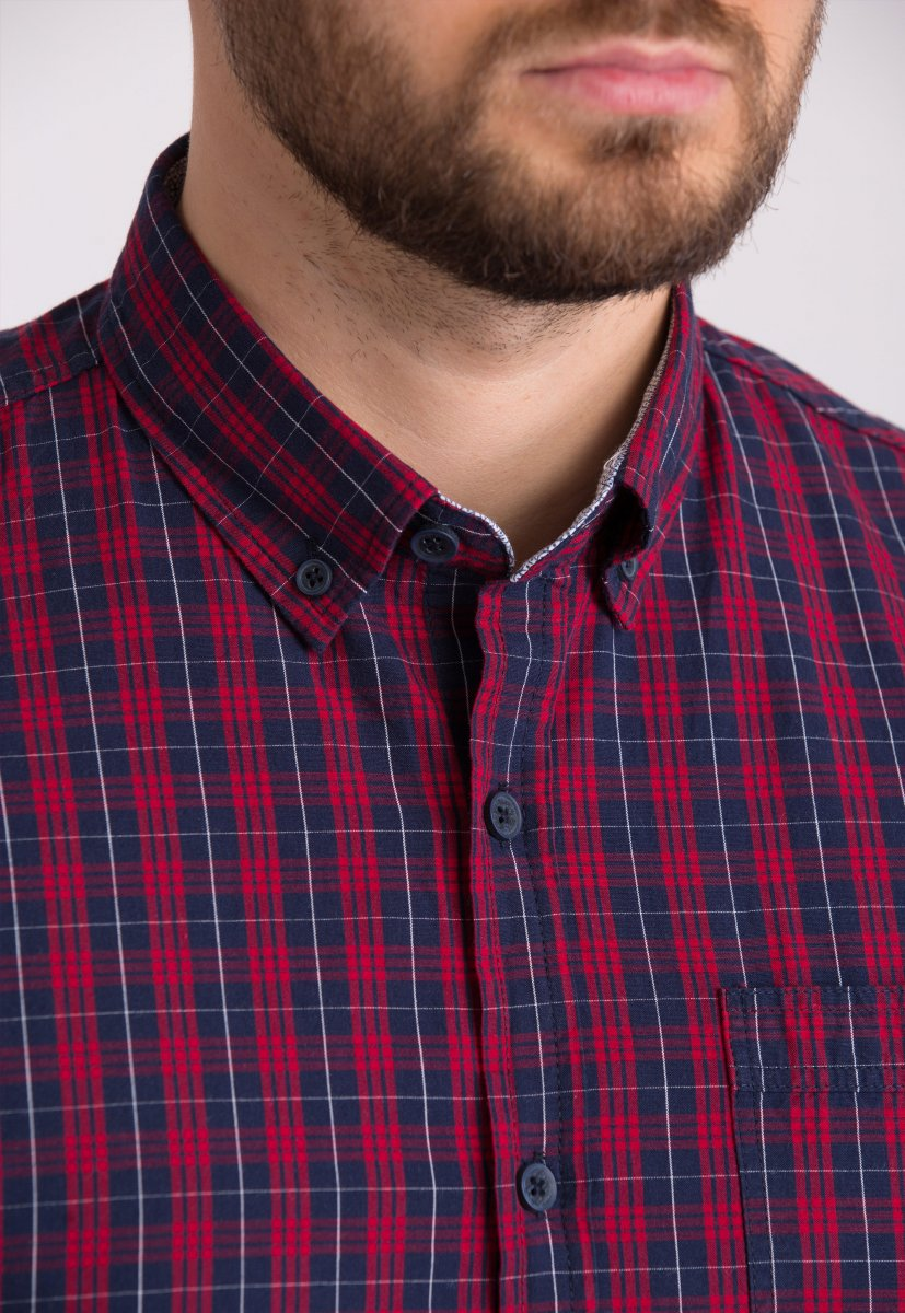Мужская рубашка Trend Collection 32320 Бордо - Фото
