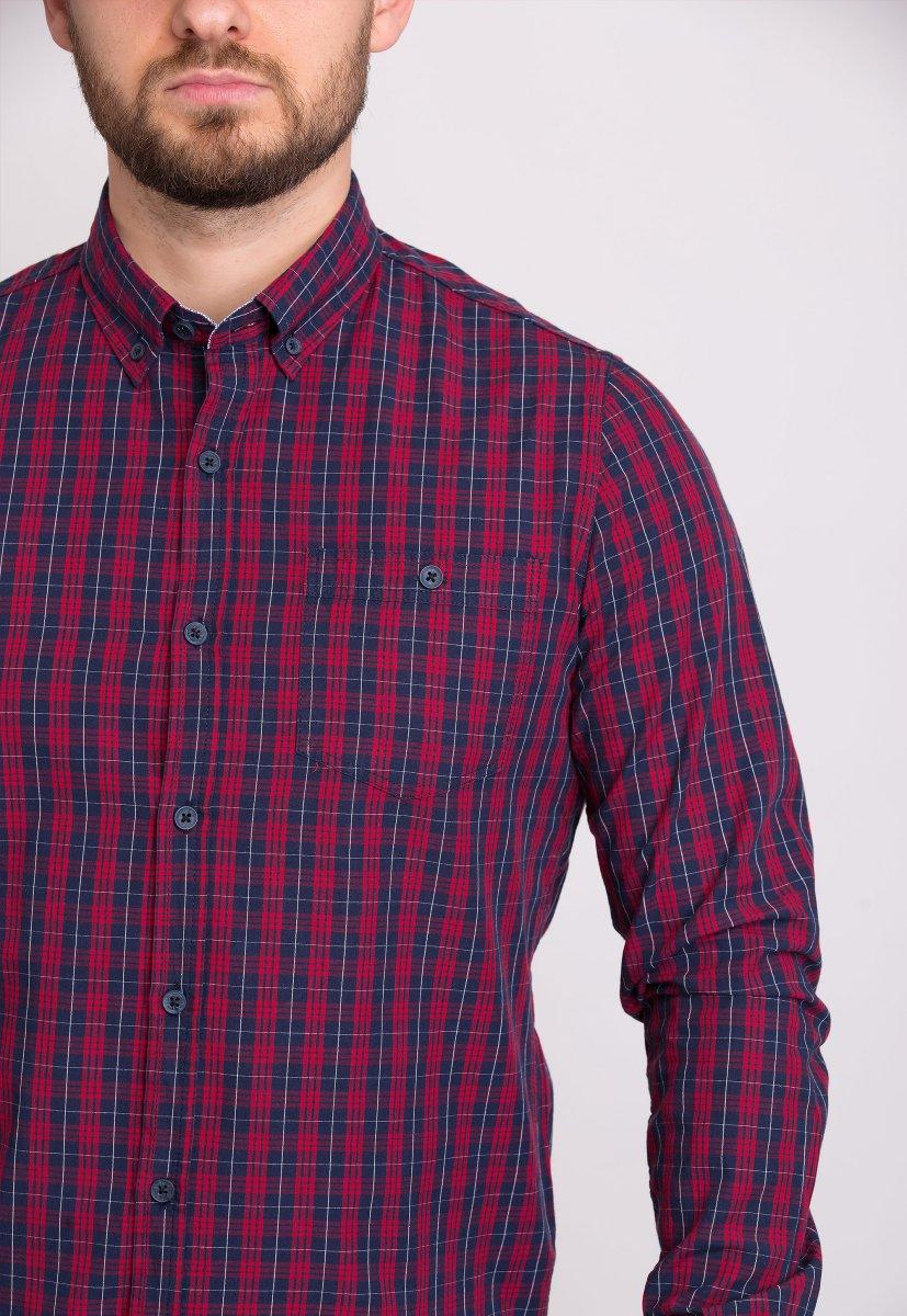 Мужская рубашка Trend Collection 32320 Бордо - Фото 1