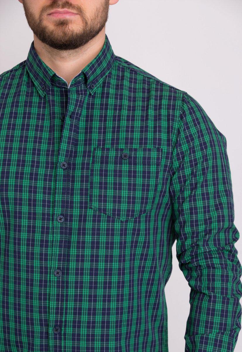 Мужская рубашка Trend Collection 32320 Зеленый - Фото 2