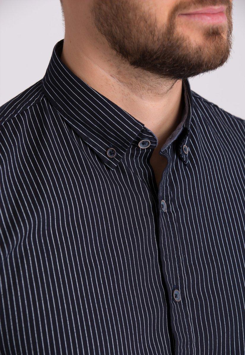 Рубашка Trend Collection 32284 Черный+полоска - Фото