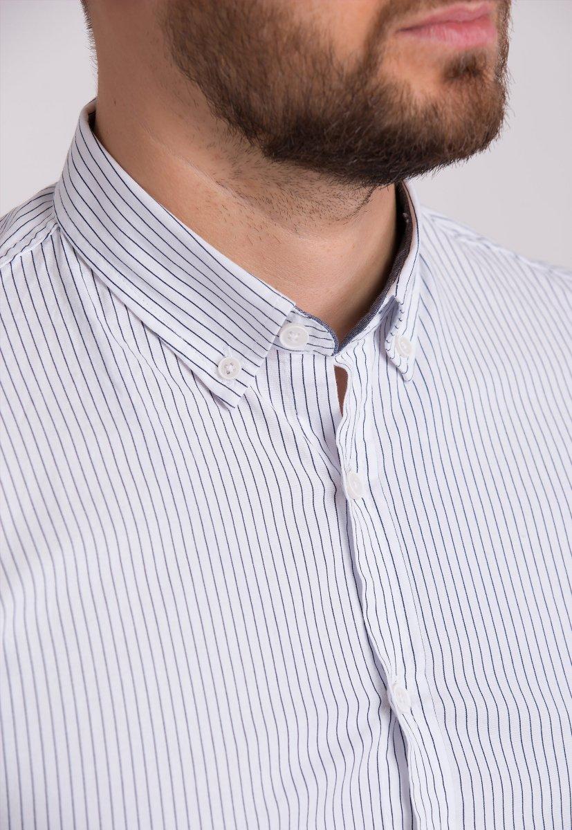 Рубашка Trend Collection 32284 Белый+полоска - Фото
