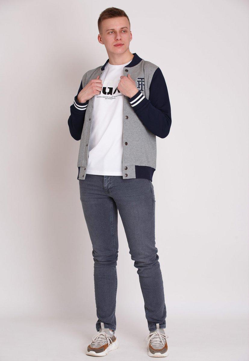 Куртка Trend Collection 69808 Серый + синий - Фото