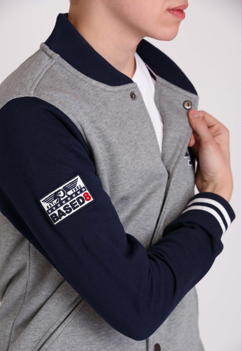 Куртка Trend Collection 69808 Серый + синий - Фото 2