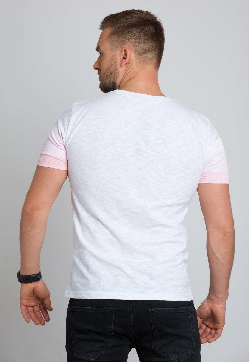 Футболка Trend Collection 8070 Белый+розовый - Фото 1