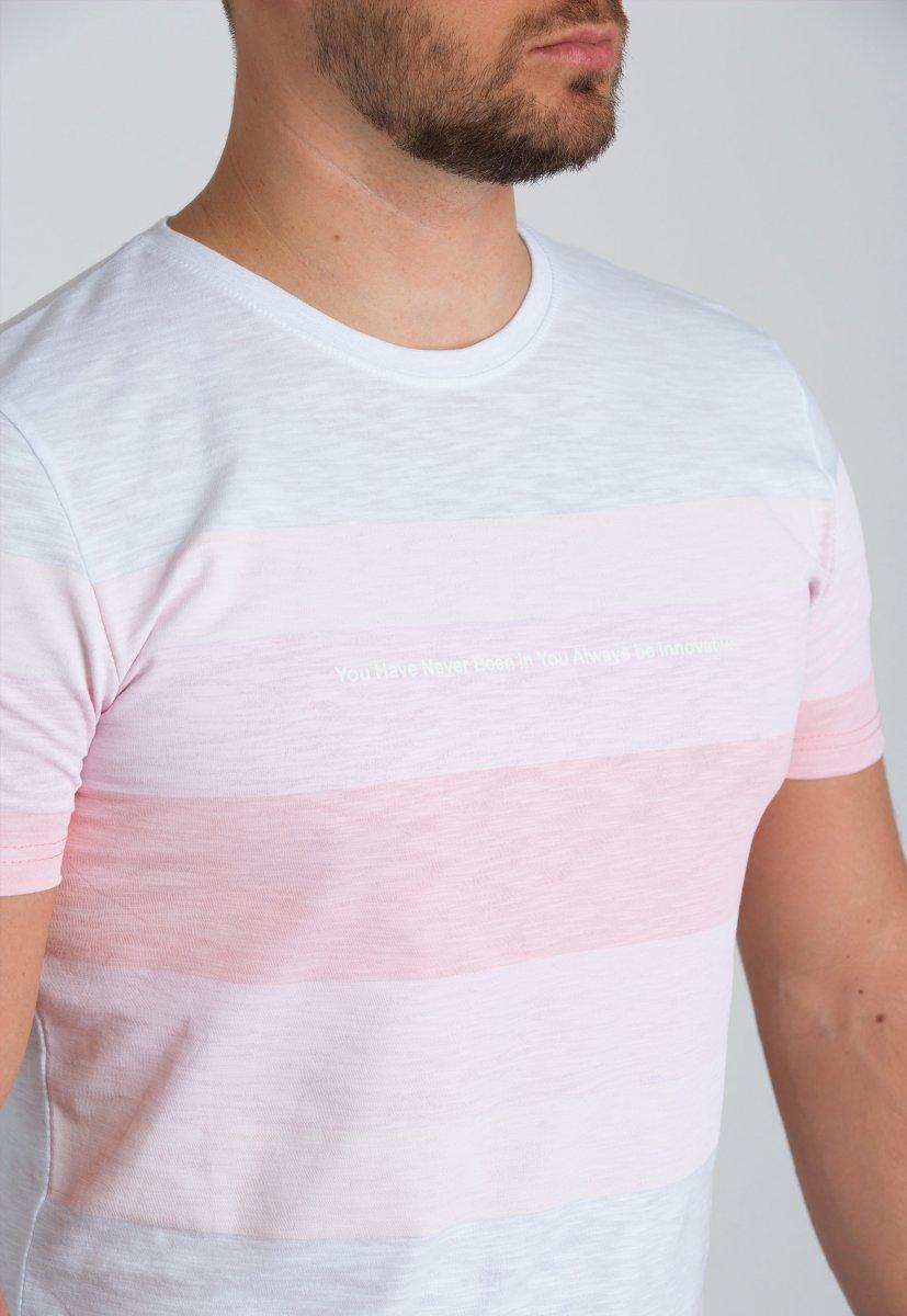 Футболка Trend Collection 8070 Белый+розовый - Фото 2