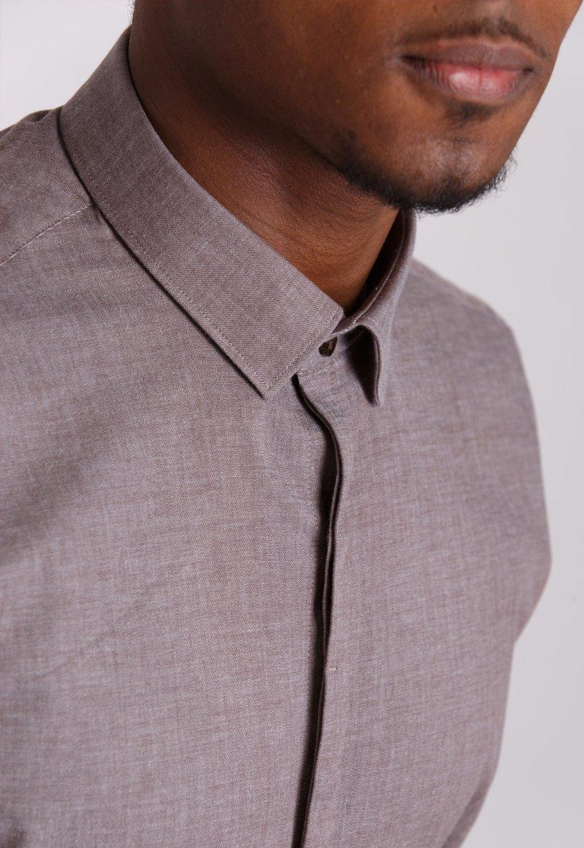 Рубашка Trend Collection 0804 Бежевый - Фото