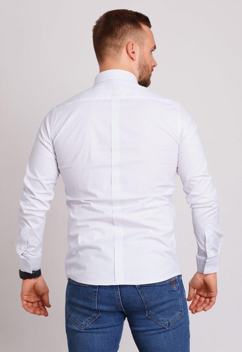 Рубашка мужская Trend Collection 0805 Белый+точка - Фото 1