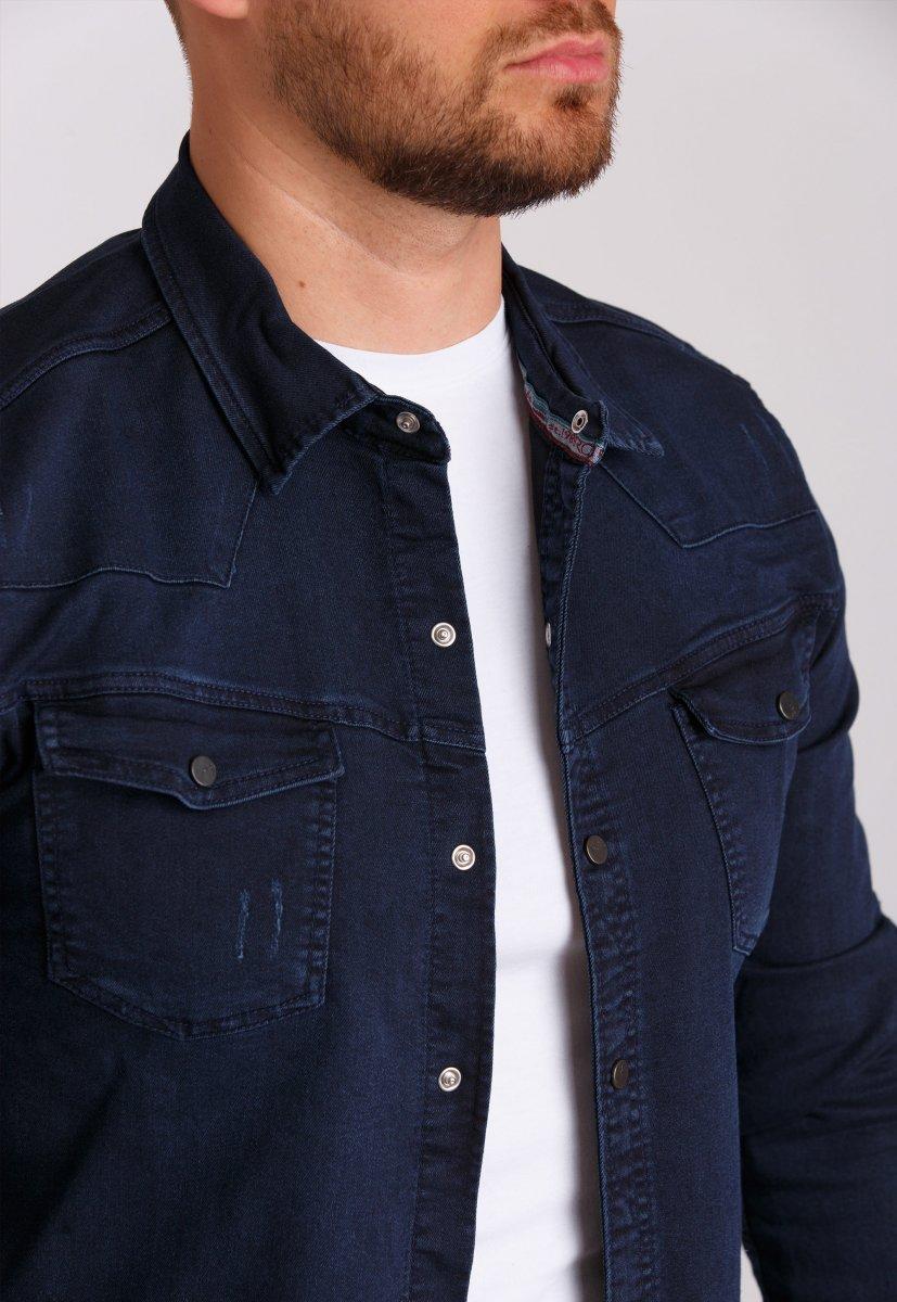 Рубашка Trend Collection 69 Темно-синий - Фото 2