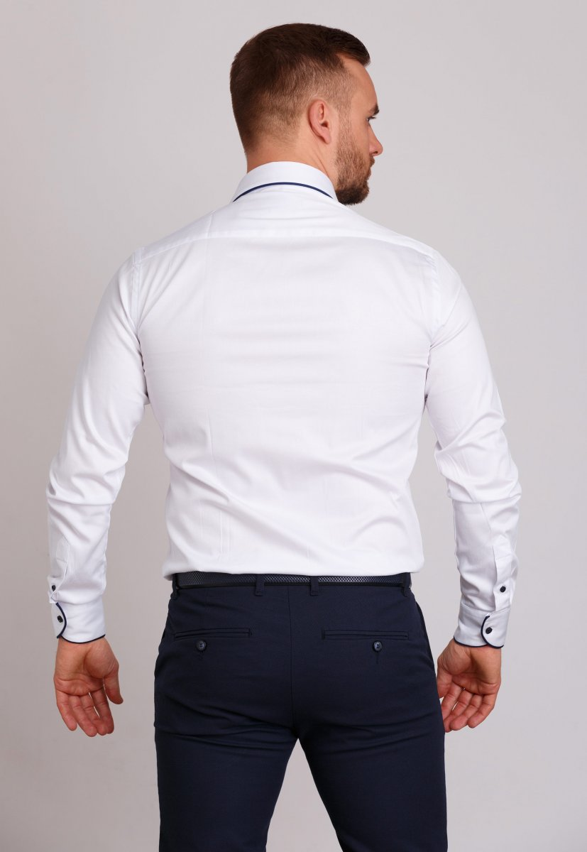 Рубашка Trend Collection 224 Белый+синий - Фото