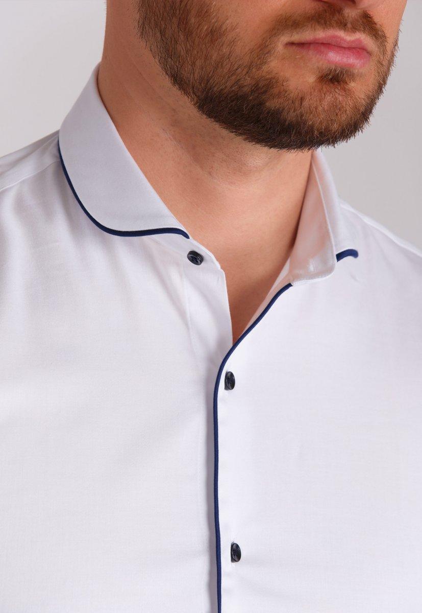 Рубашка Trend Collection 224 Белый+синий - Фото 1