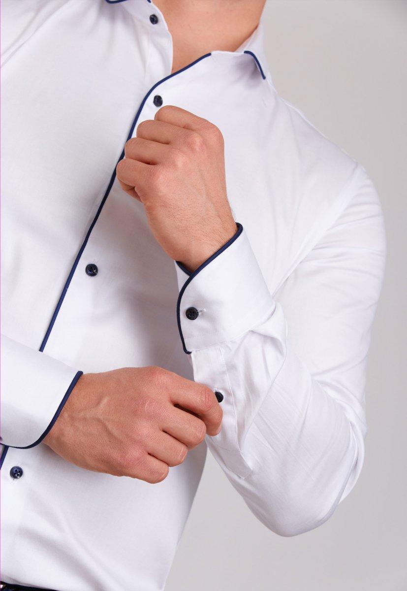 Рубашка Trend Collection 224 Белый+синий - Фото 2