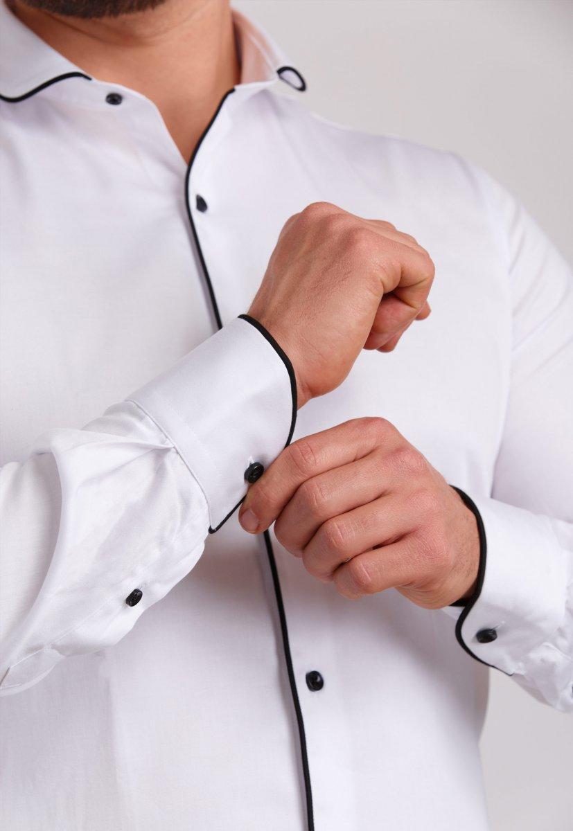 Рубашка Trend Collection 224 Белый+черный - Фото