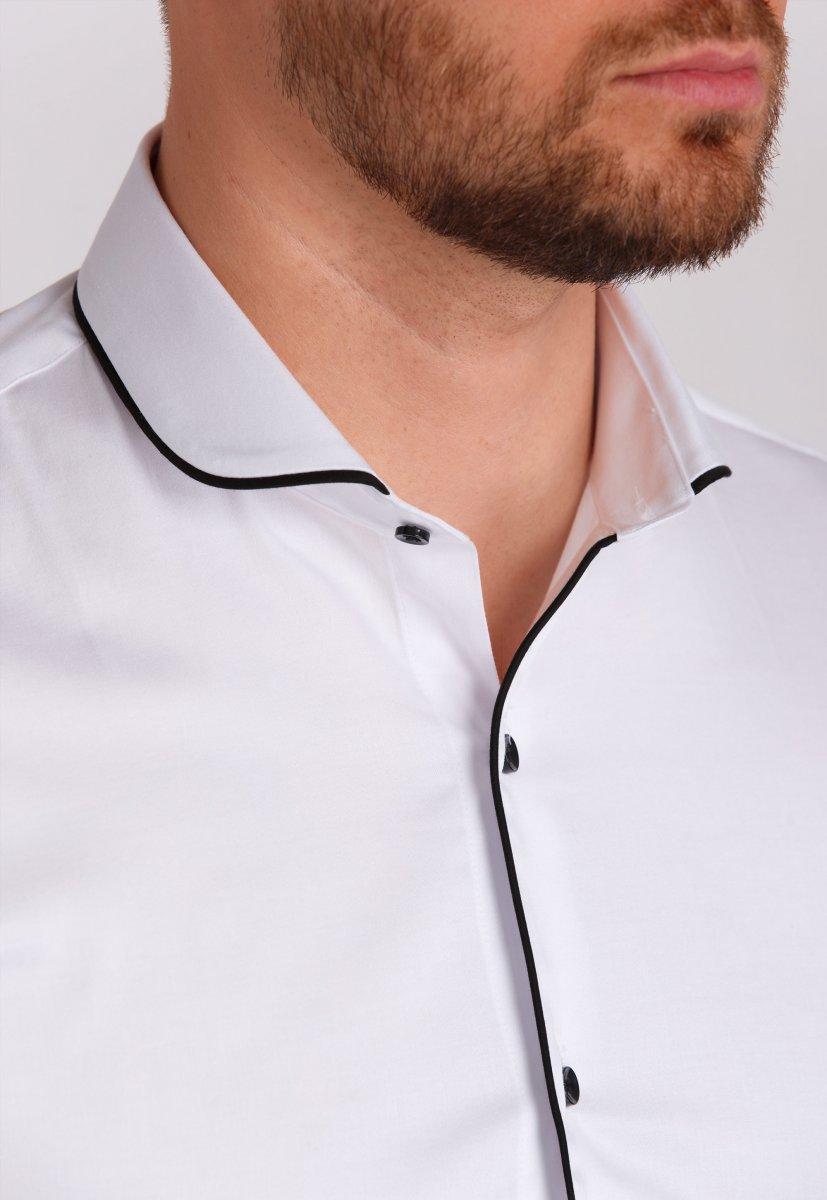 Рубашка Trend Collection 224 Белый+черный - Фото 1