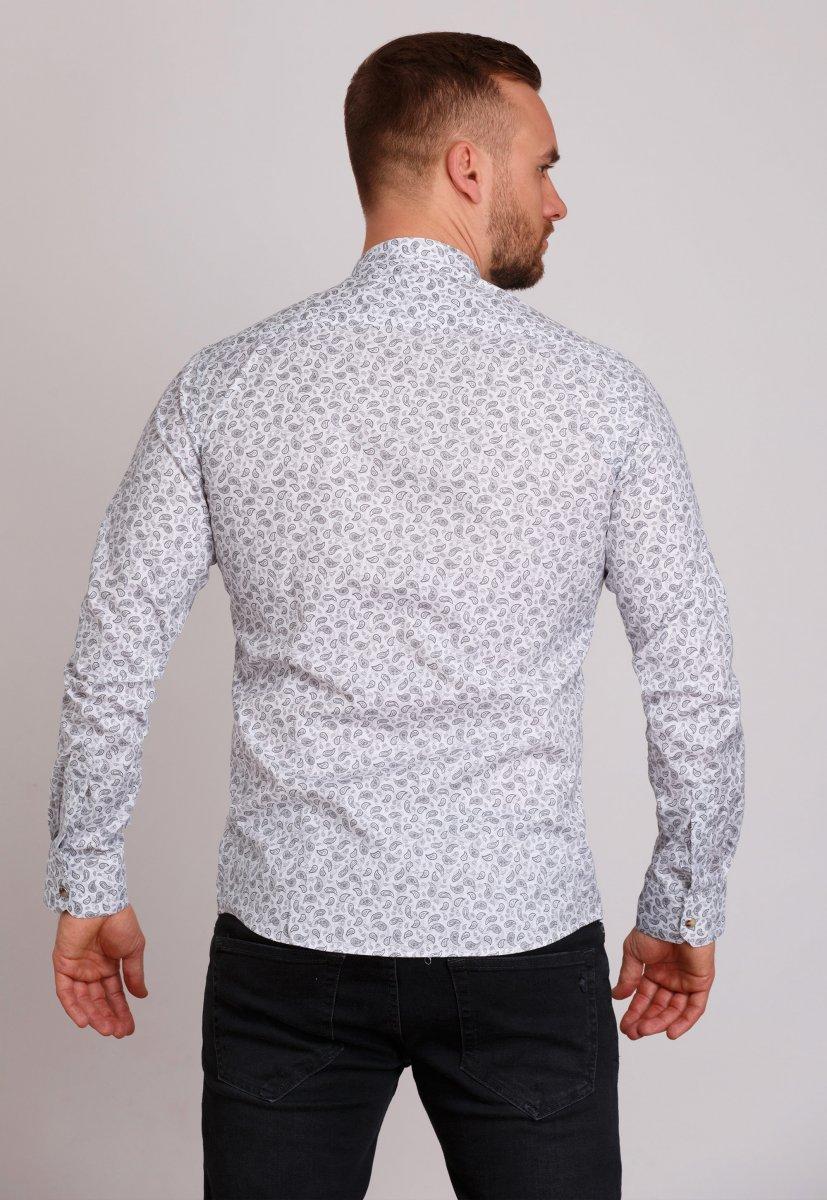 Рубашка Trend Collection 0808 Белый+серый - Фото
