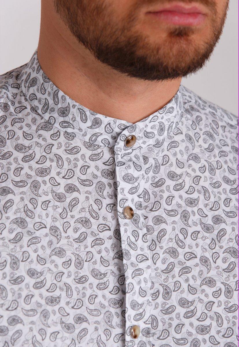 Рубашка Trend Collection 0808 Белый+серый - Фото 1