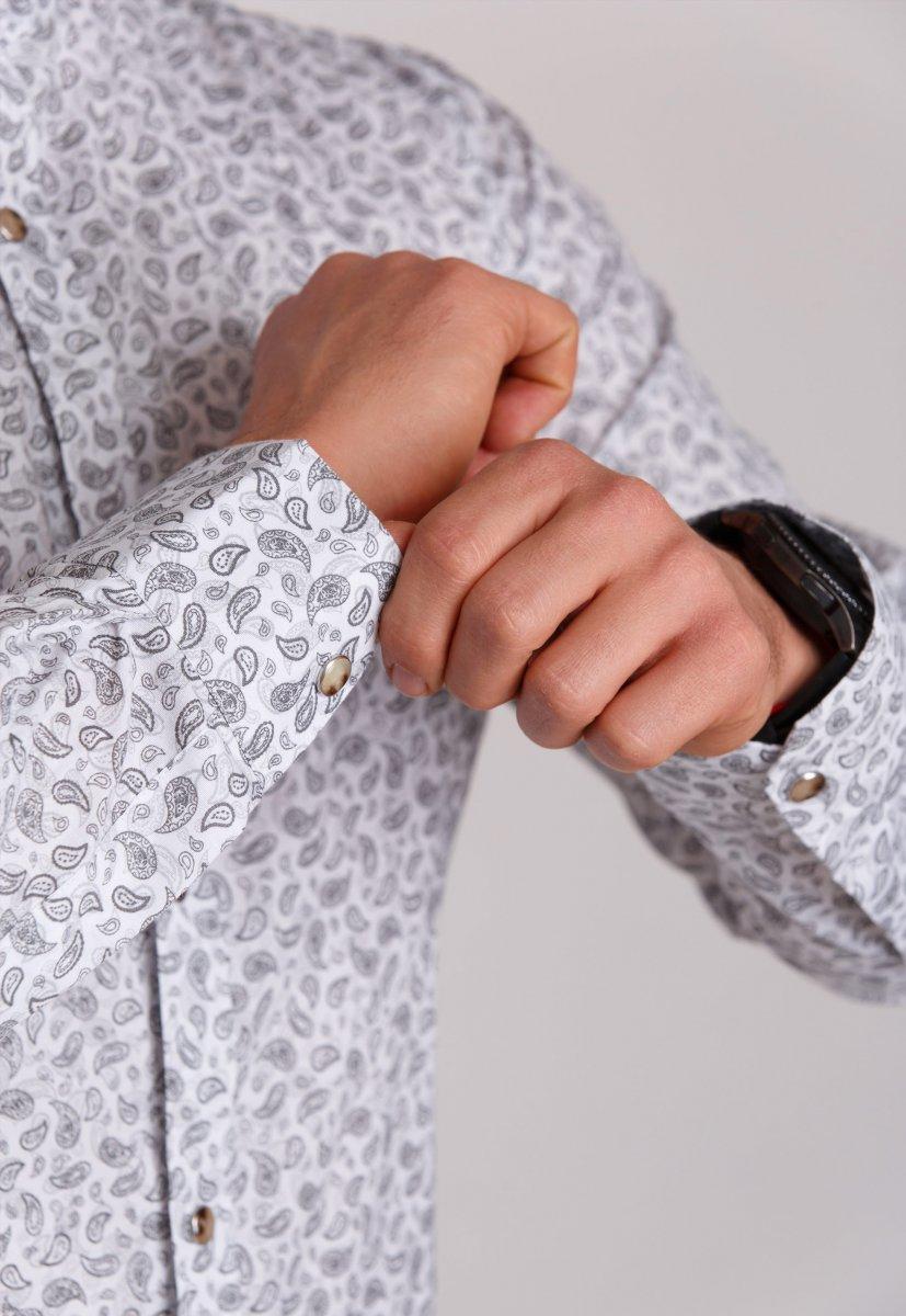 Рубашка Trend Collection 0808 Белый+серый - Фото 2