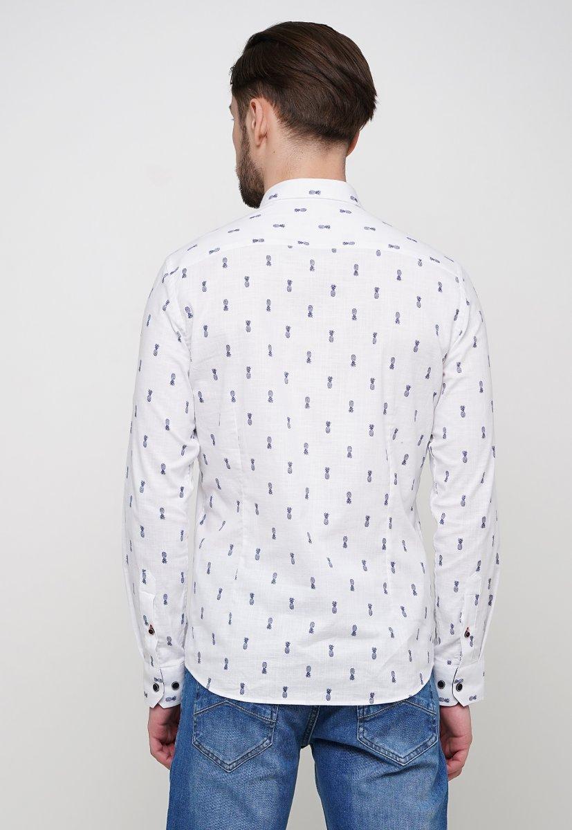 Рубашка Trend Collection 014 Белый+ананас - Фото 1