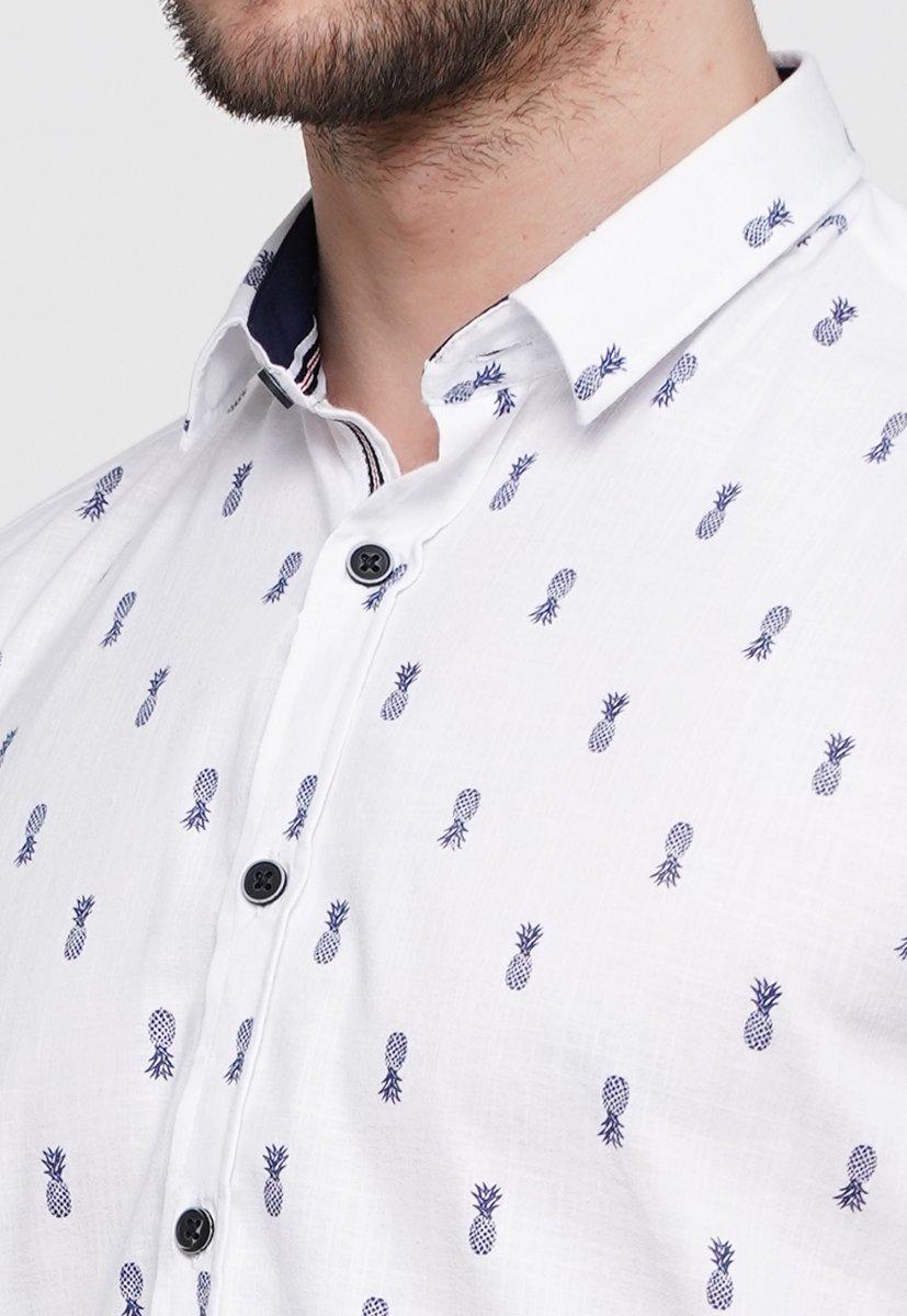 Рубашка Trend Collection 014 Белый+ананас - Фото